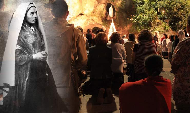 Lourdes, la source au creux du rocher