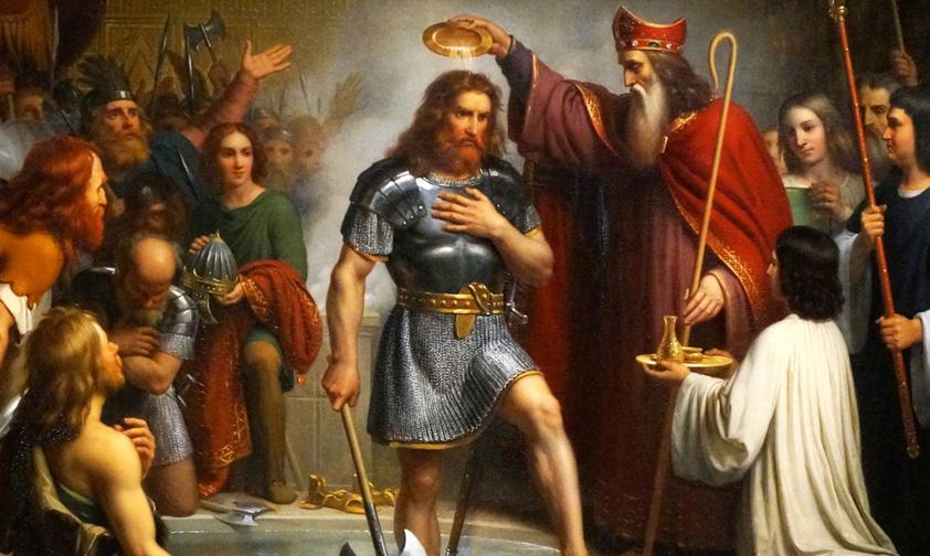 Le baptême de Clovis à Reims marque une étape décisive de l'histoire de France