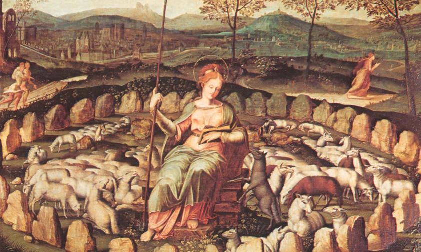 Sainte Geneviève, patronne de Paris qu'elle sauva d'Attila